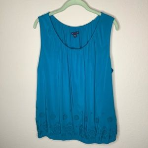 Gap Sleeveless Scoop Neck Tunic Turquoise XXL
